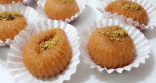 صورة حلويات تركية بالسميد , عمل حلويات تحفة