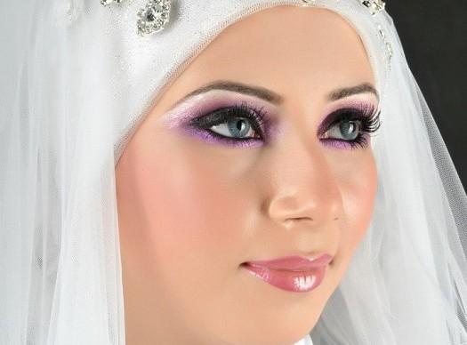 صورة مكياج عرايس محجبات , خليكي عروسة زي القمر