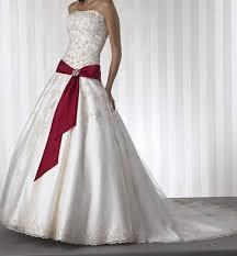 صورة فستان زفاف ابيض مع احمر , فستان زفاف شكل جديد 11163 2