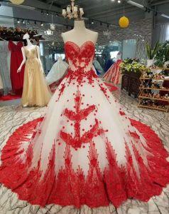 صورة فستان زفاف ابيض مع احمر , فستان زفاف شكل جديد 11163 4