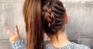 صورة تسريحات للشعر الطويل للمدرسة , لو بنتك شعرها طويل تعالي هنا