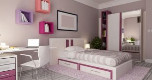 صورة اثاث غرف نوم للبنات , غرف ملونة بينك