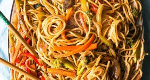 صورة طريقة المكرونه الصينيه , بطعم يشبه الموجودة في المطاعم