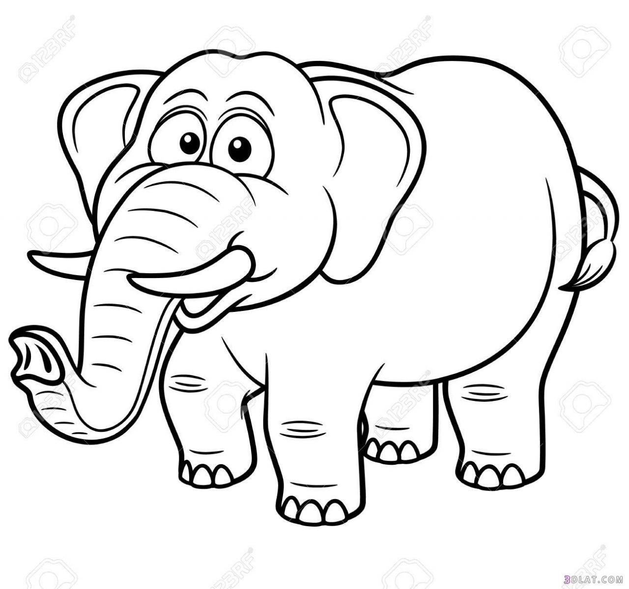 صورة رسومات اطفال للتلوين حيوانات , التلوين بينمى المهارات