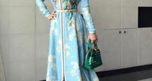 صورة قفطان مغربي عصري , ملابس على الاستايل المغربي