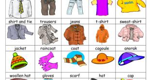 صورة اسماء الملابس بالانجليزي, تعلم طريقة نطق اللغة الانجليزية