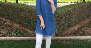 صورة قمصان جينز طويلة للمحجبات, تمتعي باطلالات صيفية جديدة