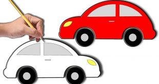 صورة كيفية رسم سيارة, اسهل طريقة لتعلم الرسم