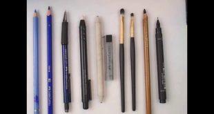 صورة تعرف على اداه مهمه جدا للرسم , ادوات الرسم للمبتدئين