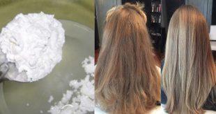 تنعيم الشعر بالنشا